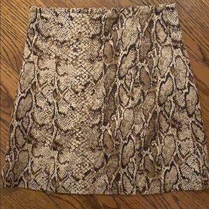 REFORMATION snake skin printed skirt